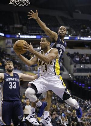 Green helps Pacers beat Grizzlies 83-80
