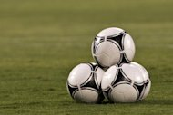 A picture taken on October 16, 2012, shows footballs before the start of FIFA 2014 World Cup European zone qualifying group F match, near Tel Aviv. FIFA's former head of security Chris Eaton insists there is no credible evidence of match-fixing in England, but he warned the sport's authorities to remain on red alert