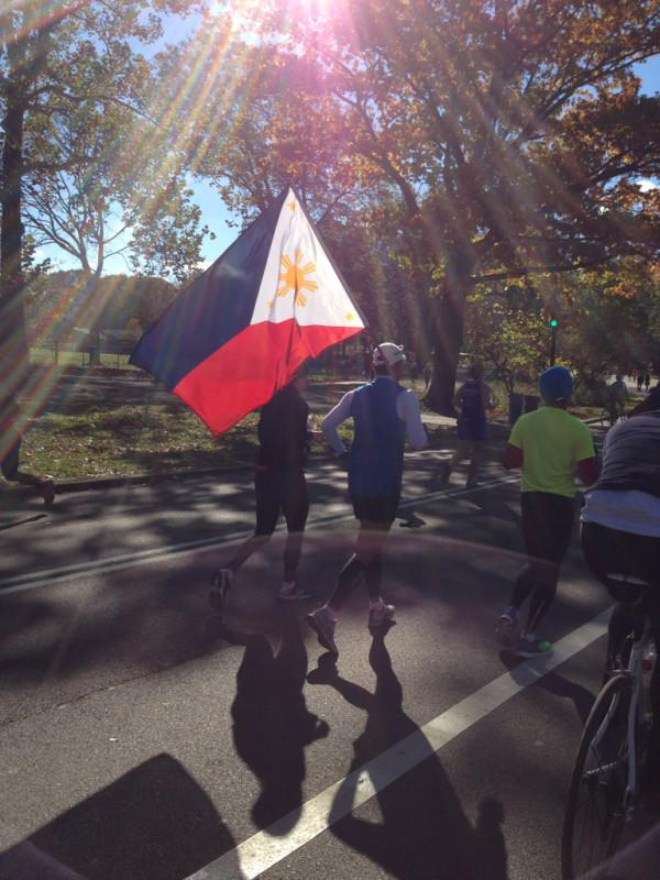 Runners of all countries at the #unofficial #nycmarathon