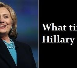 This Week In 2016 Speculation: What Time Is Hillary Clinton?