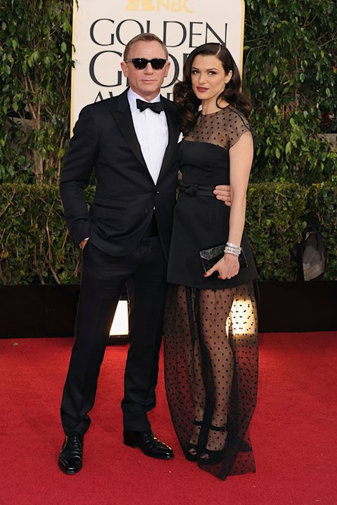 70th Annual Golden Globe Awards - Arrivals: Daniel Craig and Rachel Weisz