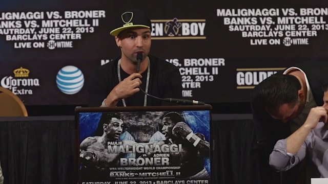 Malignaggi and Broner - Emotionally Charged Press Conference