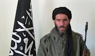 An undated grab from a video obtained by ANI Mauritanian news agency reportedly shows former Al-Qaeda in the Islamic Maghreb (AQIM) emir Mokhtar Belmokhtar speaking at an undisclosed location