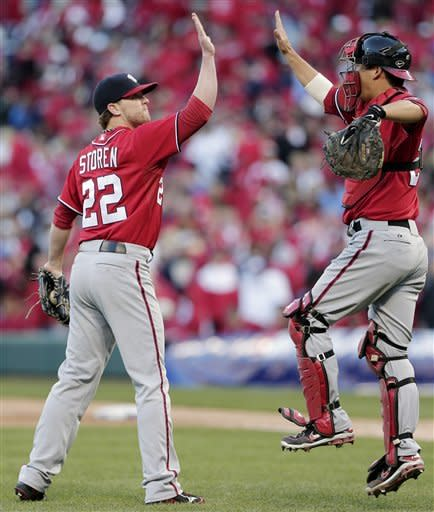 Nationals rally past Cardinals in Game 1
