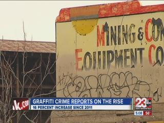 Reports of graffiti in Bakersfield on the rise
