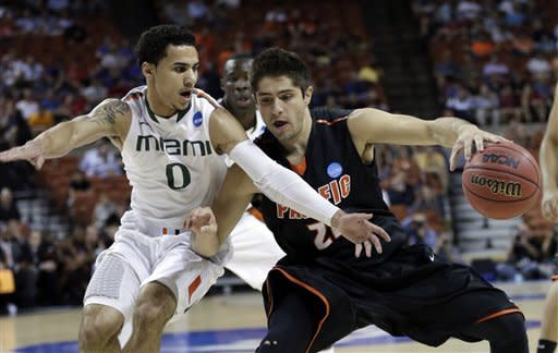 Miami makes NCAA return with 78-49 win vs Pacific