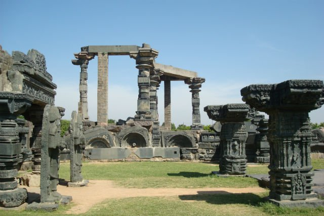 Sculptures in Warangal Fort. Photo: Lakshmi Sharath
