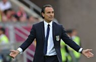 Italian head coach Cesare Prandelli reacts during the Euro 2012 championships football match Spain vs Italy at the Gdansk Arena. The game ended in a draw 1-1