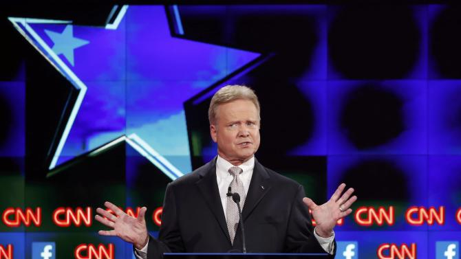 U.S. democratic presidential candidate and former U.S. Senator Jim Webb speaks during the first official Democratic candidates debate of the 2016 presidential campaign in Las Vegas