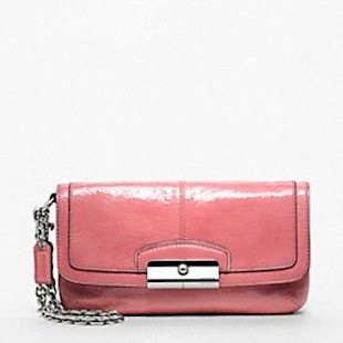 Coach Kristin patent leather fashion wristlet