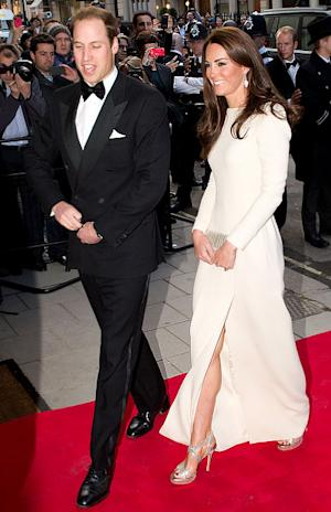 Slim Kate Middleton Flashes Legs in High-Slit Dress