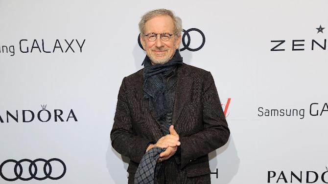 Steven Spielberg arrives at The Hollywood Reporter Nominees' Night at Spago on Monday, Feb. 4, 2013, in Beverly Hills, Calif. (Photo by Chris Pizzello/Invision for The Hollywood Reporter/AP Images)
