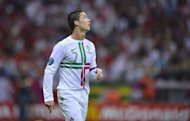 Portuguese forward Cristiano Ronaldo looks on during the Euro 2012 quarter-final match against the Czech Republic at the National Stadium in Warsaw