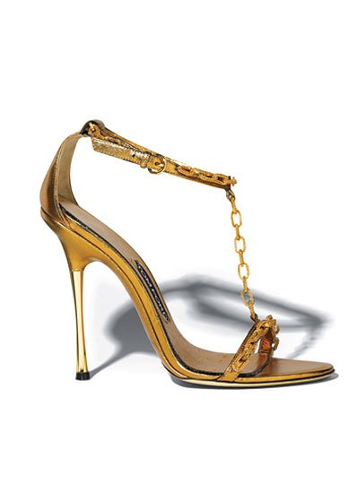 Tom Ford T-Strap Sandals, $1,490, tomford.com
