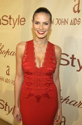 Heidi Klum Elton John AIDS Foundtation In-Style Party Hollywood, CA 3/24/2002