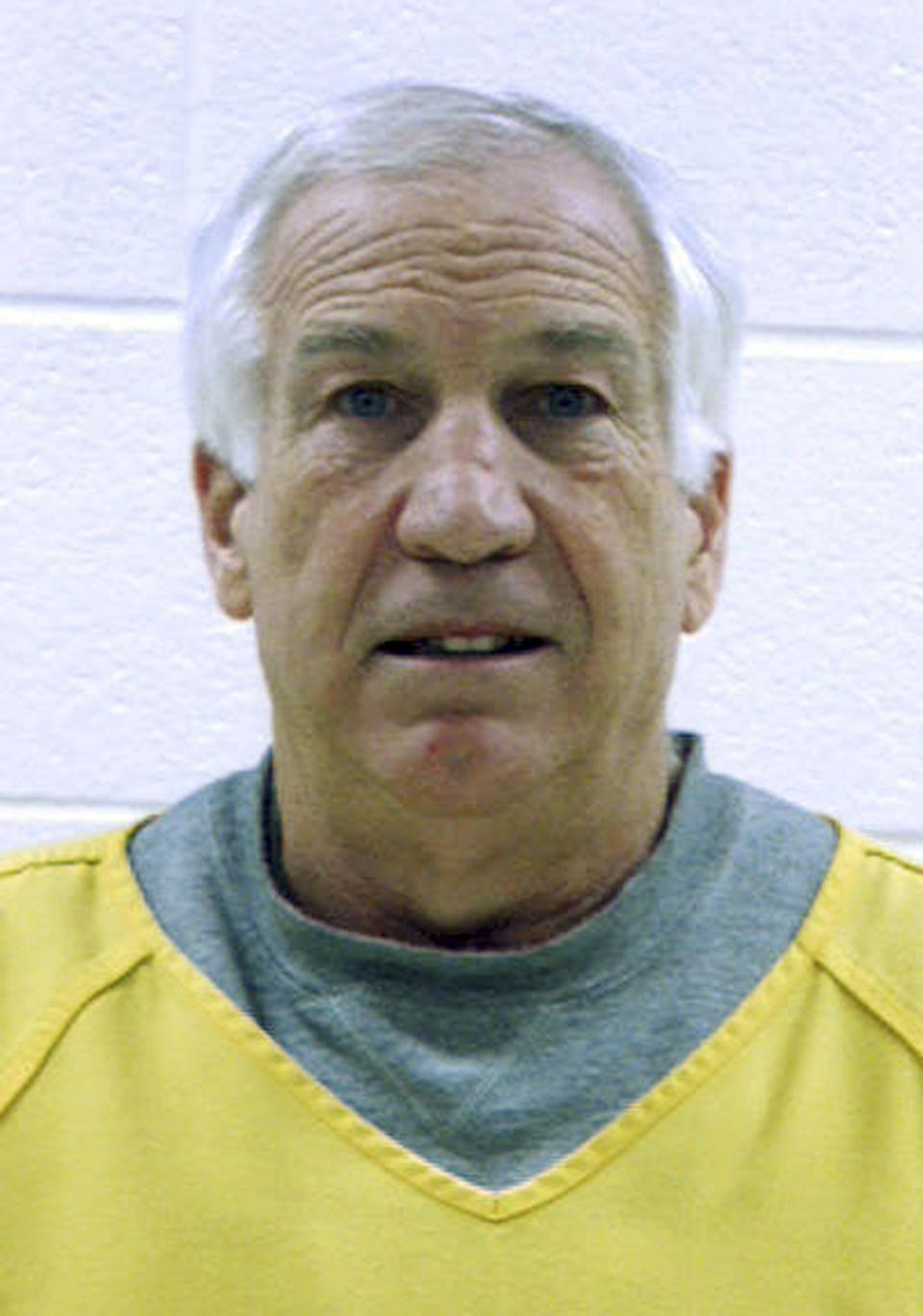 "This Dec. 7, 2011 booking photo released by the Centre County Correctional Facility in Bellefonte, Penn. shows former Penn State football defensive coordinator Gerald ""Jerry"" Sandusky, who was arrested and arraigned Wednesday on new sex abuse charges brought by two new accusers. (AP Photo/Centre County Correctional Facility)"
