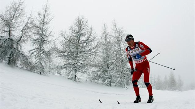 Eldar Roenning of Norway competes during men's 15km Classical Individual race in the World Cup Cross Country competition in Szklarska Poreba February 18, 2012