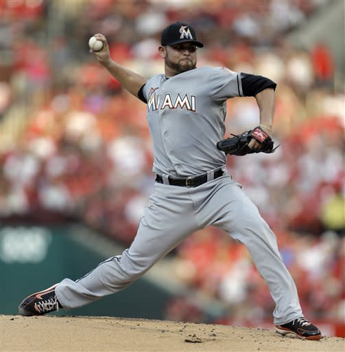 Marlins beat Cardinals 3-2 for 3rd in row