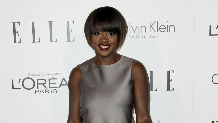 Actress Viola Davis arrives at the 18th Annual ELLE Women in Hollywood celebration in Beverly Hills, Calif., Monday, Oct. 17, 2011.  The dinner celebrates women's achievements in film. (AP Photo/Matt Sayles)
