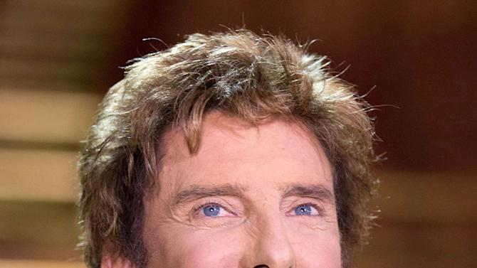 """Barry Manilow appears at a press preview for his show """"Manilow on Broadway,"""" at the St. James Theatre on Tuesday, Jan. 22, 2013 in New York. (Photo by Dario Cantatore/Invision/AP)"""