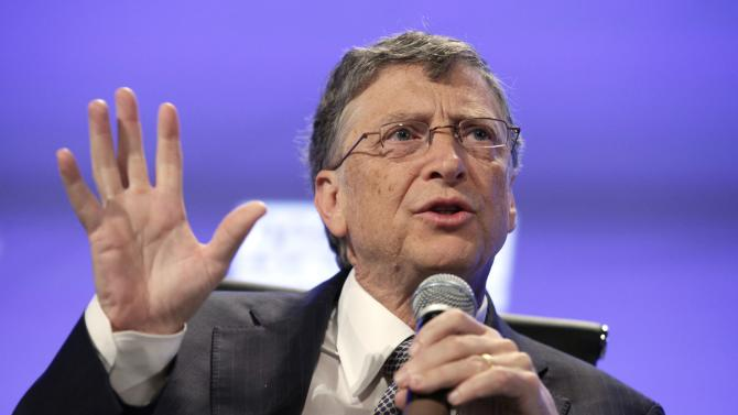File photo of Bill Gates speaking at Peterson Institute 2013 Fiscal Summit on Facing the Future in Washington