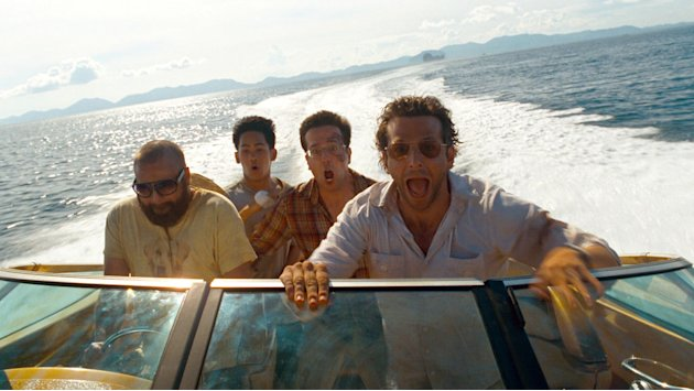 Zach Galifianakis Mason Lee Ed Helms Bradley Cooper The Hangover Part II Production Stills Warner Bros. 2011