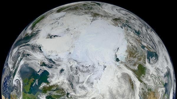 Photo: 'White Marble' Shows Arctic View of Earth