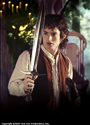 Elijah Wood as Frodo the Hobbit in New Line's The Lord of The Rings: The Fellowship of The Ring