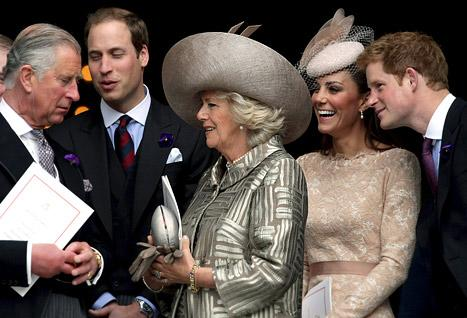 Kate Middleton, Prince William Salute Queen Elizabeth II at Service of Thanksgiving