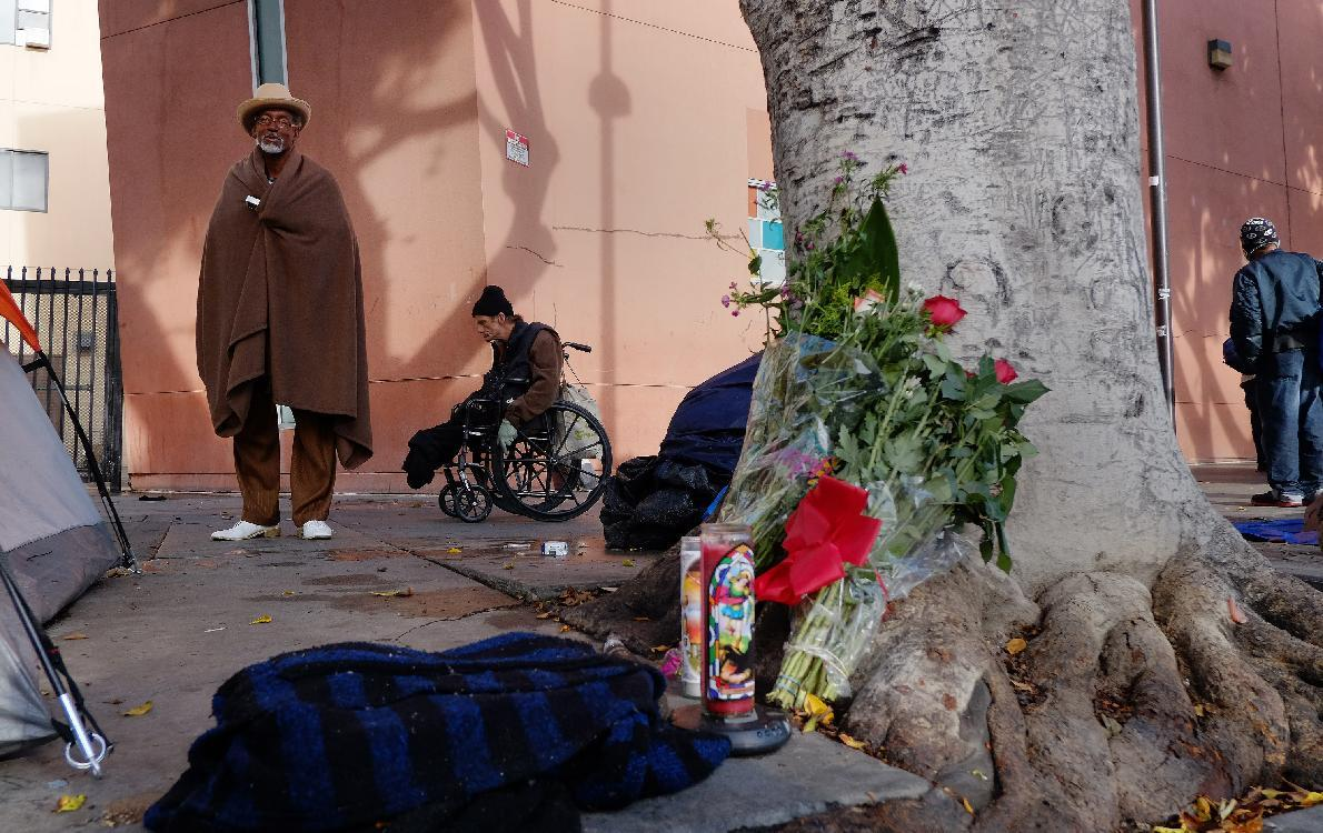 Area of police shooting long a haven for the destitute
