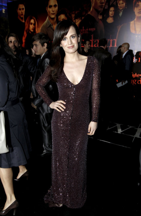 "Elizabeth Reaser arrives to the world premiere of ""The Twilight Saga: Breaking Dawn - Part 1"" on Monday, Nov. 14, 2011, in Los Angeles. (AP Photo/Matt Sayles)"