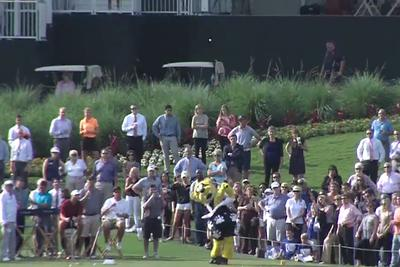 This is the best golf shot you'll ever see from an NFL mascot