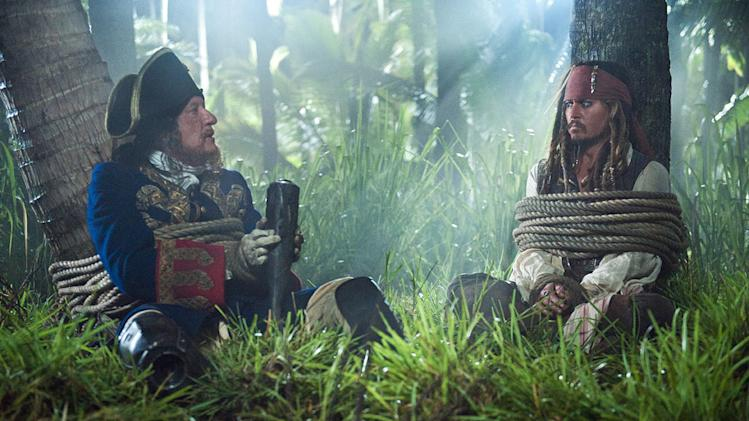 Pirates of the Caribbean On Stranger Tides Movie Stills 2011 Walt Disney Pictures Geoffrey Rush Johnny Depp