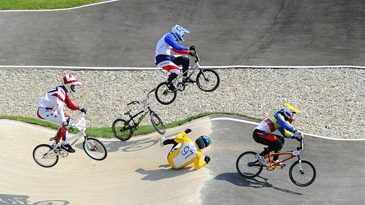 Olympics: Cycling-BMX-Men's BMX Quarterfinals