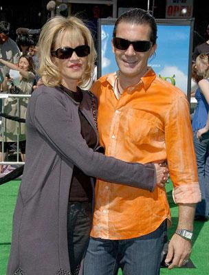 Melanie Griffith and Antonio Banderas at the Los Angeles premiere of DreamWorks' Shrek the Third