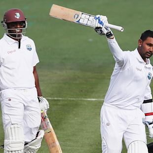 Ton-up Ramdin, Chanderpaul rescue West Indies