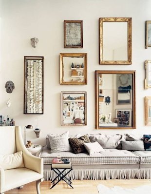 Mirrors as a Gallery-Style Wall