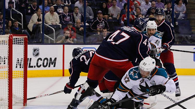 NHL: San Jose Sharks at Columbus Blue Jackets