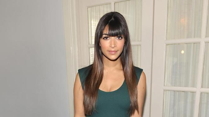 IMAGE DISTRIBUTED FOR THR - Hannah Simone is seen at the The Hollywood Reporter's Beauty Luncheon held at the Chateau Marmont on Wednesday Nov. 14, 2012 in Los Angeles. (Photo by John Shearer/Invision for THR/AP Images)