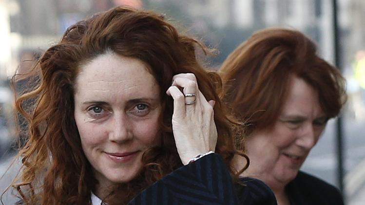 Former News International chief executive Rebekah Brooks arrives at the Old Bailey courthouse with her mother Deborah Wade in London