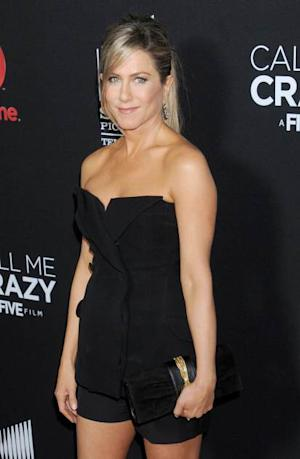 Jennifer Aniston arrives at the Lifetime movie premiere of 'Call Me Crazy: A Five Film' at Pacific Design Center on April 16, 2013 in West Hollywood, Calif. -- Getty Premium