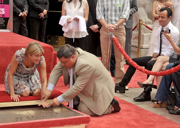 Jennifer Aniston Hand & Footprint Ceremony