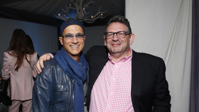 Jimmy Iovine and Lucian Grainge attends a Grammy Party hosted by Lucian Grainge on Sunday, Feb. 10, 2013 in Los Angeles. (Photo by Todd Williamson/Invision/AP)