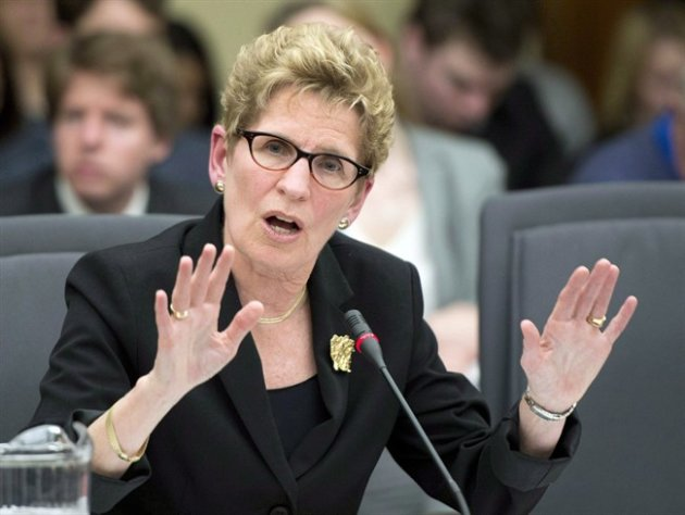 Ontario Premier Kathleen Wynne appears before the legislature's justice committee at the Ontario Legislature in Toronto on Tuesday April 30, 2012.Despite the ongoing scandal over the expenses of some