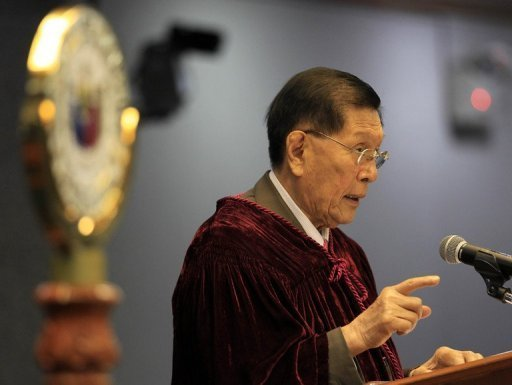 Senate President Juan Ponce Enrile is pictured in May 2012. The Philippine Senate ratified a sensitive military pact with Australia Tuesday that lays out rules for visiting troops, in a move politicians said would improve regional security