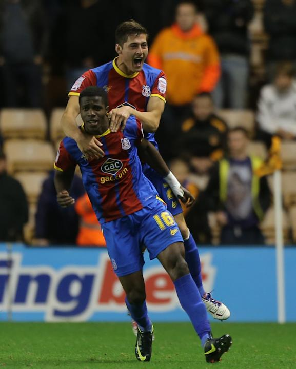 Wilfried Zaha, bottom, was a star performer for Crystal Palace