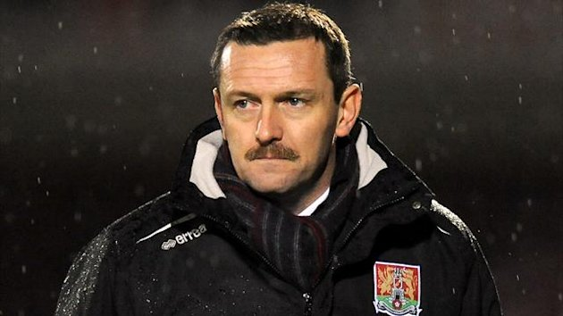 Manager Aidy Boothroyd, Northampton Town