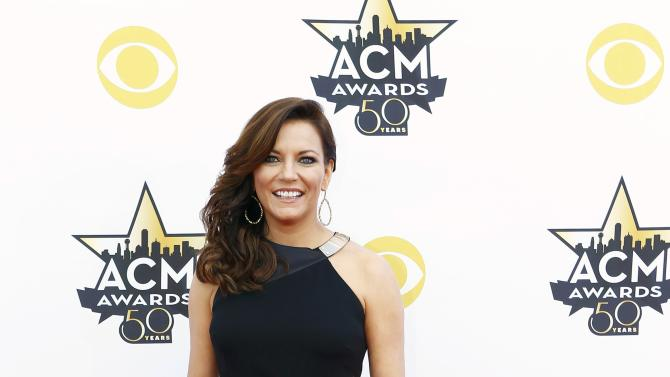 Martina McBride arrives at the 50th Annual Academy of Country Music Awards in Arlington