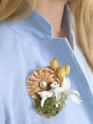 8. A Playful Easter Brooch