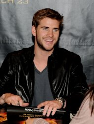 Liam Hemsworth of Lionsgate&#39;s &#39;The Hunger Games&#39; signs autographs at Barnes & Noble at The Grove in Los Angeles on March 22, 2012 -- Getty Images